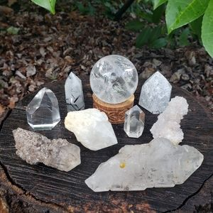 Clear Quartz Crystal Collection!